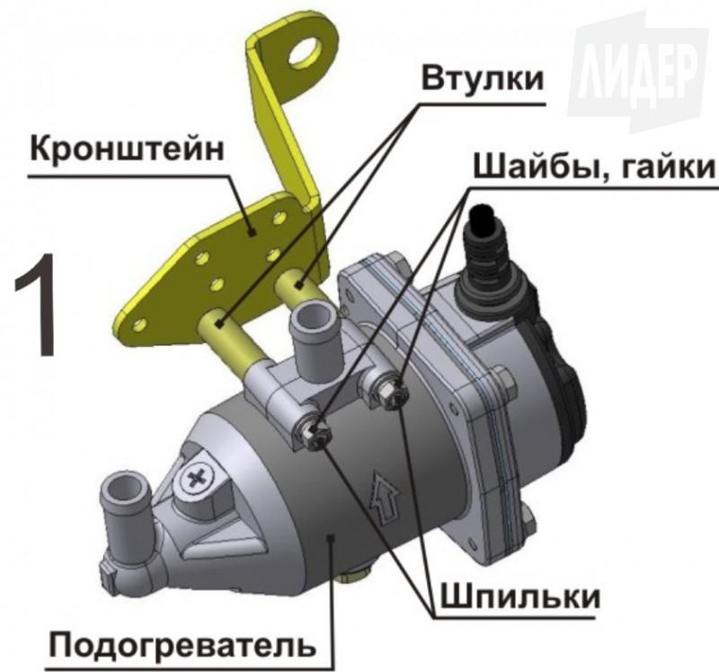 монтаж электроподогревателя на автомобиль renault symbol
